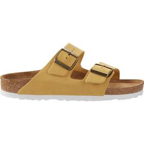 Birkenstock Arizona Soft Footbed Sandals Suede Leather Narrow Women ochre